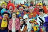 Members of the public dressed up as clowns during London's annual New Year's Day Parade
