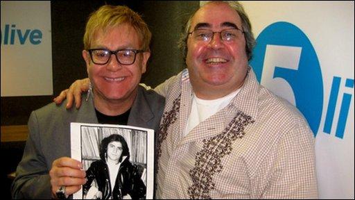 Sir Elton John with Danny Baker
