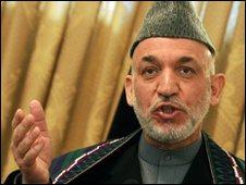 President Hamid Karzai of Afghanistan, 8-12-09
