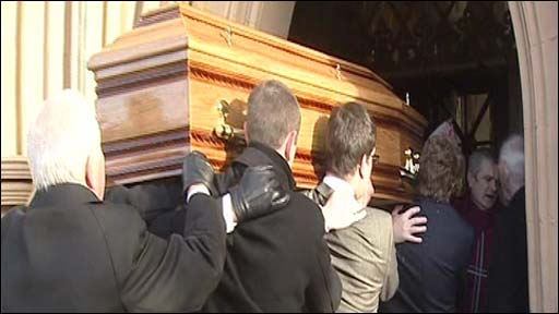 Cardinal Daly's coffin St Peter's Cathedral
