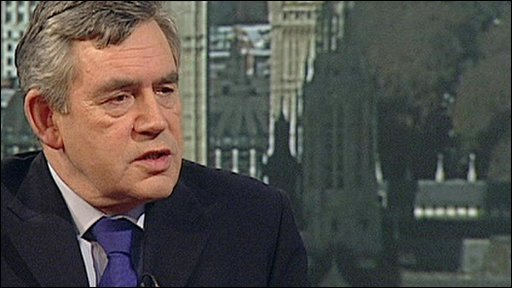 Prime Minister Gordon Brown on The Andrew Marr Show