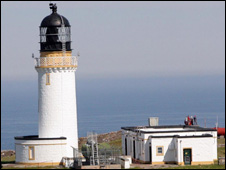 lighthouse at Cape Wrath, picture by Peter Jolly