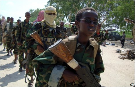 Al-Shabab rebels in Mogadishu, 1 January