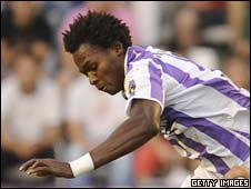 Angola and Real Vallodolid's Manucho