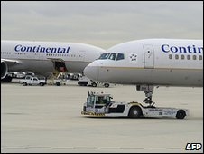 Continental Airlines flights at Newark International Airport (file image)