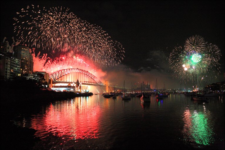 Sydney Harbour, New Year's eve