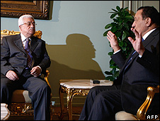 Abbas and Mubarak in Egypt - Jan 2009