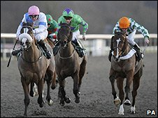 Racing at Lingfield went ahead at the weekend