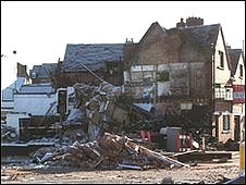 Scene of the explosion