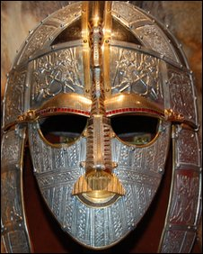 A replica of the Anglo saxon Helmet from Sutton Hoo