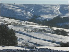 The A53 Leek to Buxton road in the Staffordshire Moorlands