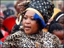 Thobeka Madiba-Zuma at her wedding, 04/10
