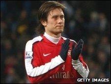Arsenal's Tomas Rosicky