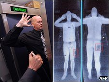 Full body scanner at work