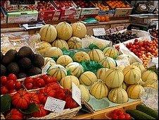 Fruit and veg stall (Image: BBC)