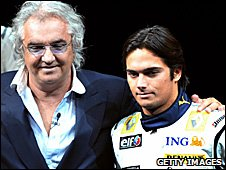 Flavio Briatore with Nelson Piquet Jr in 2008