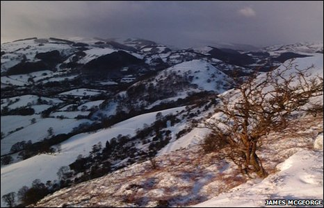 Overlooking the Vale of Llangollen from the Panorama
