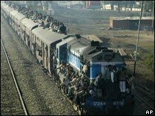 A train near Allahabad, India (file photo)