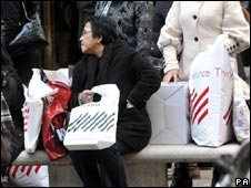 Woman with John Lewis bags
