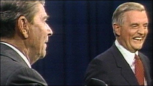 Ronald Regan and Walter Mondale