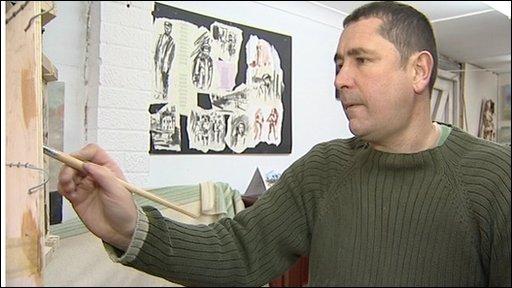 Doug Farthing, war artist