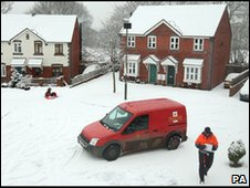 Snowy scene in Worcestershire