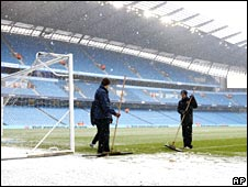 Snow at Eastlands