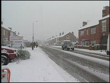 Snowfall in Nottinghamshire