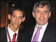 Junior Stanford with Prime Minister Gordon Brown