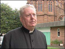 Father Gerry Nugent, pictured outside St Patrick's