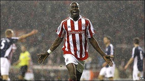 Stoke striker Mamady Sidibe