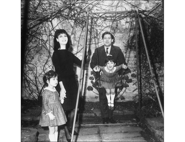 Nigella Lawson, seen here in a family picture being pushed on the swing by her father Nigel