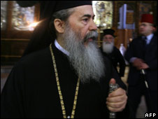 Greek Orthodox Patriarch in Jerusalem, Theophilos III, visits Bethlehem ahead of Orthodox Christian celebrations