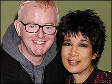Chris Evans and Moira Stuart