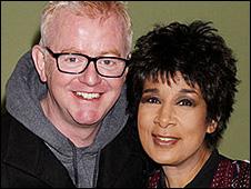 Chris Evans and Moira Stuart