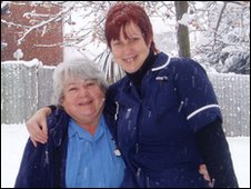 Carers who made it through the snow