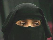 Woman wearing niqb, file pic