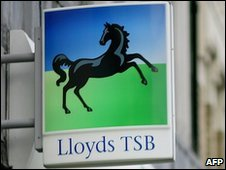 A sign outside a branch of Lloyds TSB