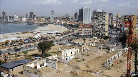 A view of Luanda's Central Business District