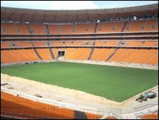 Interior of Soccer City stadium in Johannesburg