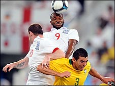 Action from England v Brazil in Qatar in November