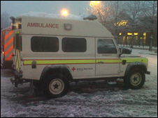 Non-emergency Red Cross vehicle