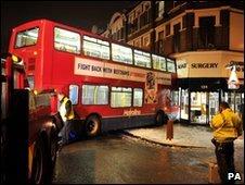Bus crashes into surgery