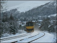 The train line at Malvern (pic by Stewart Cole)