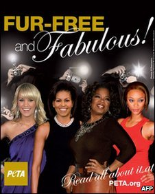 Michelle Obama's image featured in PETA's anti-fur poster