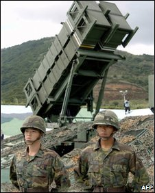 Patriot missile launcher in Taiwan - 22 October 2004 file photo