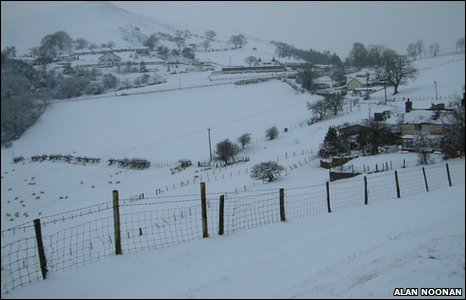 Snow at the Clwyd Gate, between Ruthin and Mold