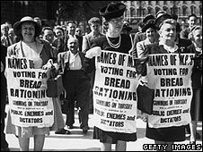 Women protest against bread rationing
