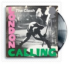 The Royal Mail stamp featuring The Clash's London Calling
