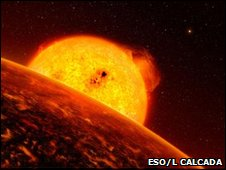 Artist's impression of Corot-7b (Eso/L Calcada)